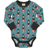 Body / romper LS Moon Rocket - Maxomorra