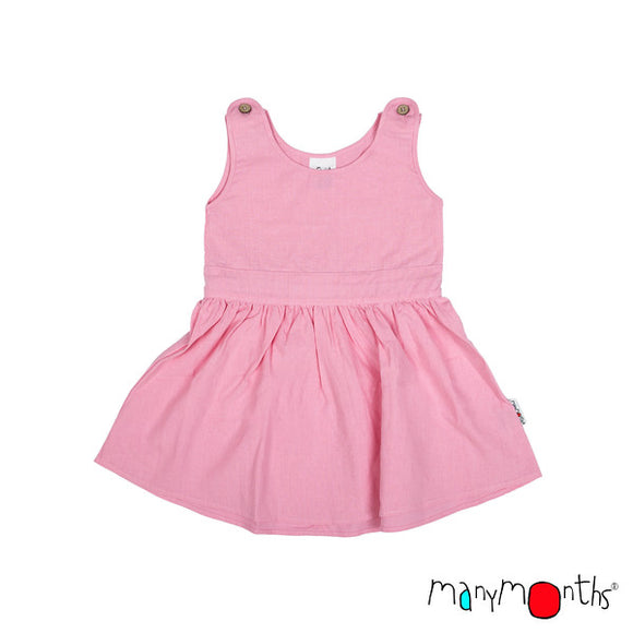 ECO Hempies Summer Dress with Bow strawberry - ManyMonth MaMidea