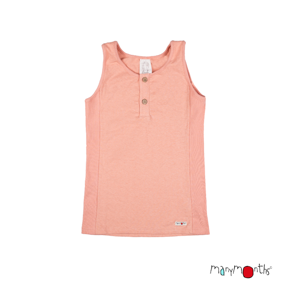 ECO Hempies Unisex Sleeveless Tanktop Peach Rose - ManyMonth MaMidea
