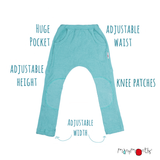 ECO Hempies Adjustable Kangeroo Trousers/ Broek Seafoam Green - ManyMonth MaMidea