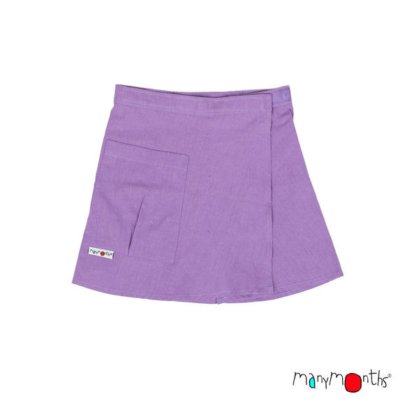 ECO Hempies Wrap Skirt / rok violet - ManyMonth MaMidea
