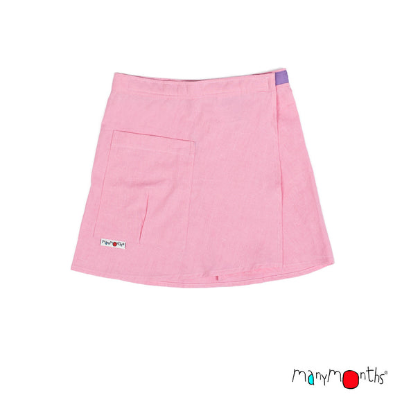 ECO Hempies Wrap Skirt / rok strawberry - ManyMonth MaMidea