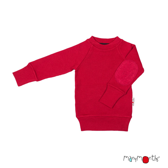 Woollies Trui / Pullover Elbow Patches Cranberry Nectar – ManyMonths MaMidea