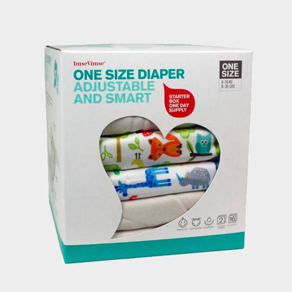 Op bestelling - One Size Cloth Nappies – Starter Box – ImseVimse