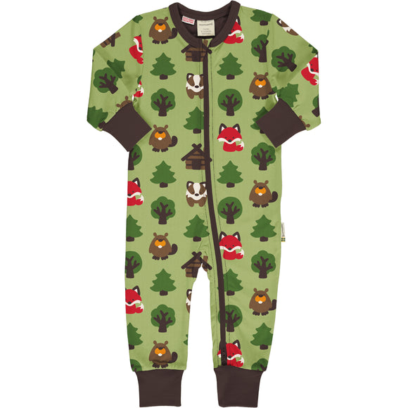 Rompersuit LS Green Forest - Maxomorra
