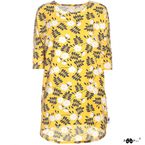 Sade shirt Midsummer rose yellow XS-XXL - Paapii Design