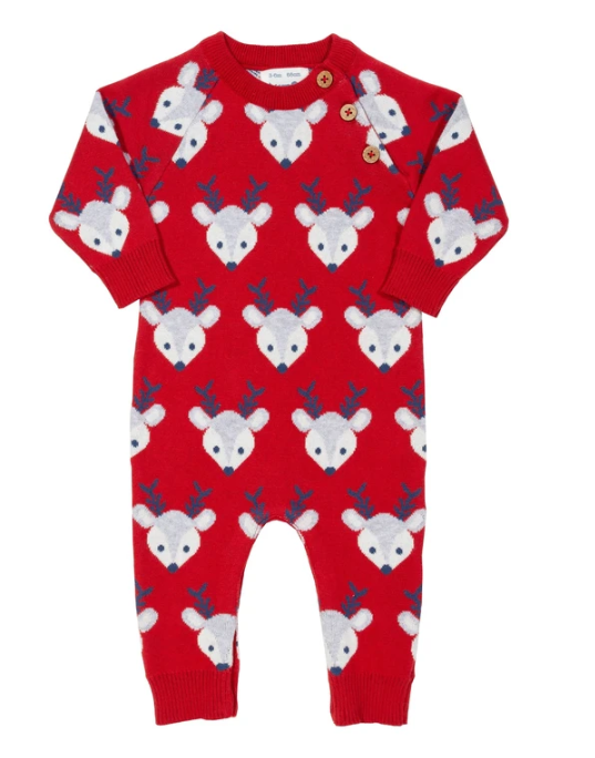 Reindeer knit romper cotton - Kite Clothing