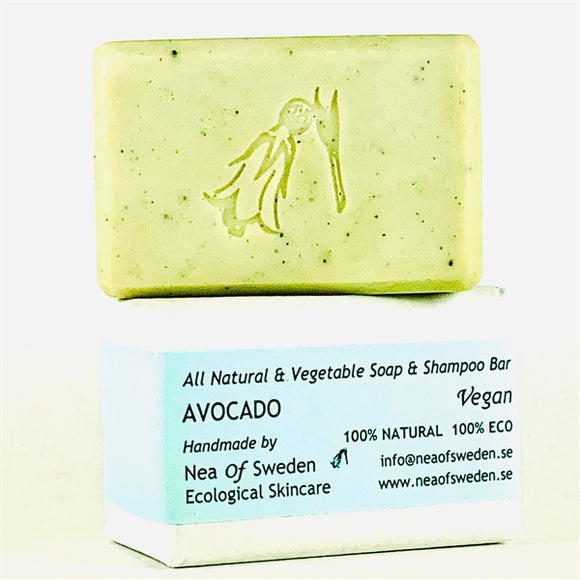 All Natural & Vegetable Soap & Shampoo Bar Advocado – Nea of Sweden