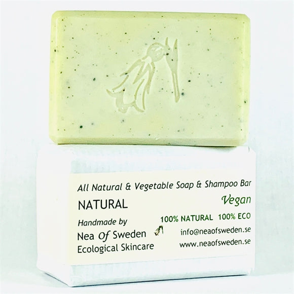 All Natural & Vegetable Soap & Shampoo Bar Natural – Nea of Sweden
