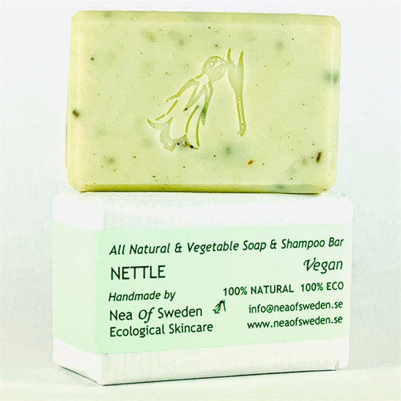 All Natural & Vegetable Soap & Shampoo Bar Nettle – Nea of Sweden
