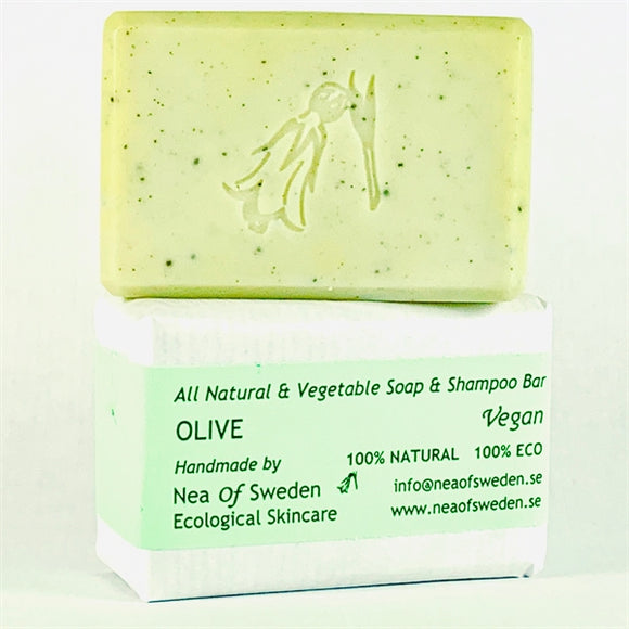 All Natural & Vegetable Soap & Shampoo Bar Olive – Nea of Sweden