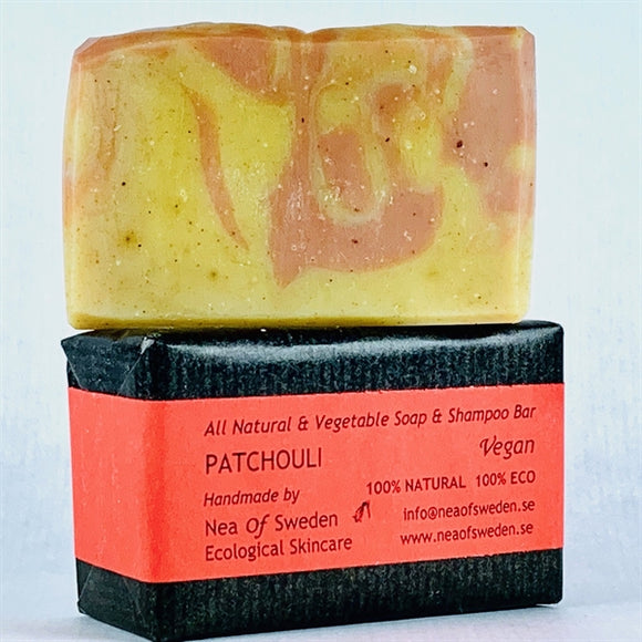 All Natural & Vegetable Soap & Shampoo Bar Patchouli – Nea of Sweden