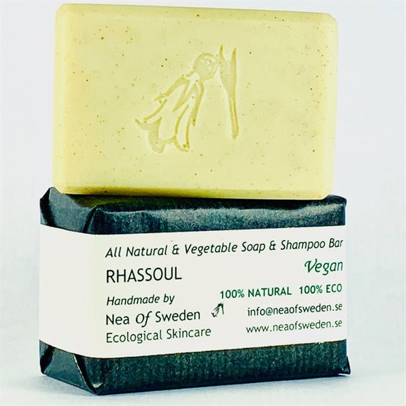 All Natural & Vegetable Soap & Shampoo Bar Rhassoul – Nea of Sweden