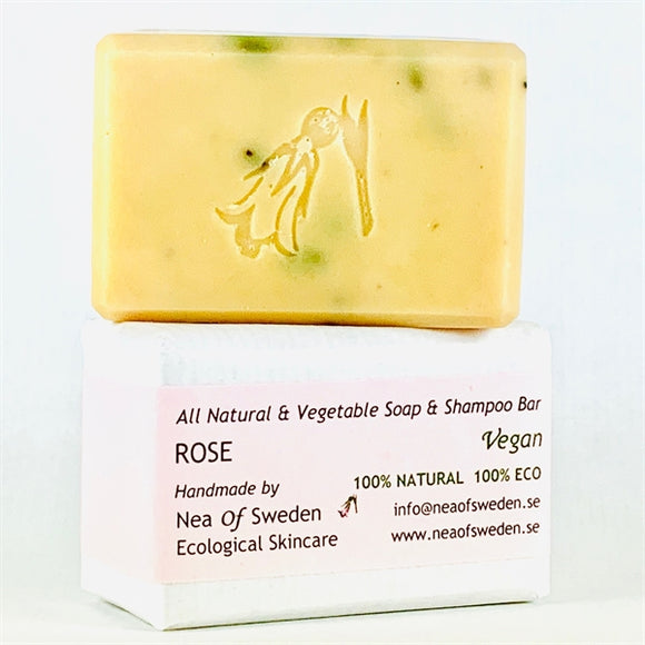 All Natural & Vegetable Soap & Shampoo Bar Rose – Nea of Sweden