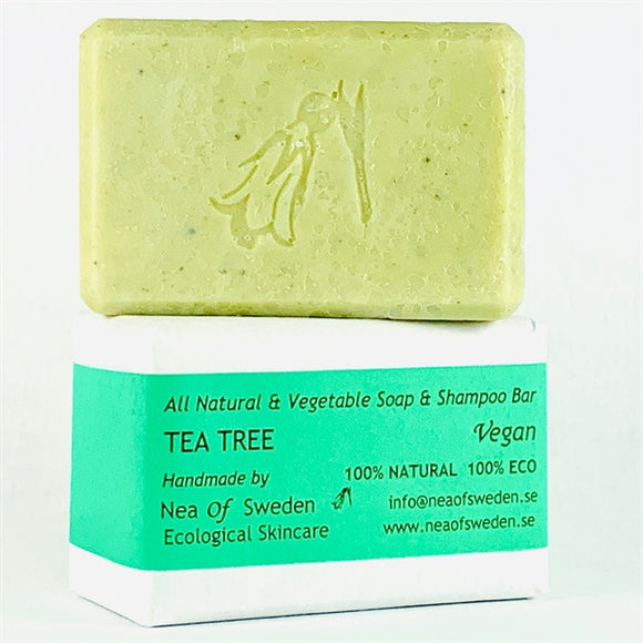 All Natural & Vegetable Soap & Shampoo Bar Tea Tree – Nea of Sweden