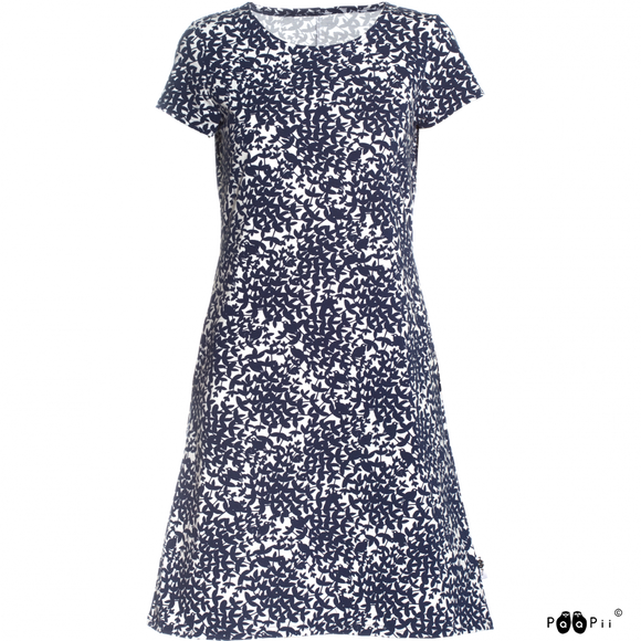 Sointu dress Nightingale blueberry XS-XXL - Paapii Design