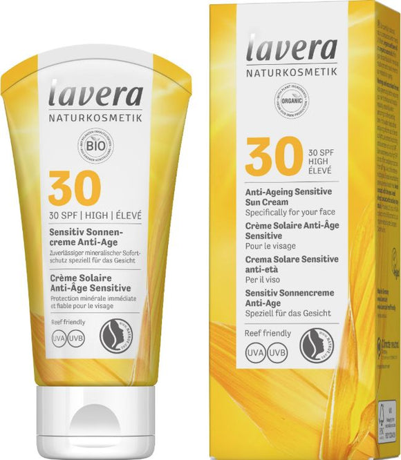 Zonnebrandcrème Anti-Ageing Sensitive Sun Cream SPF 30 – Lavera