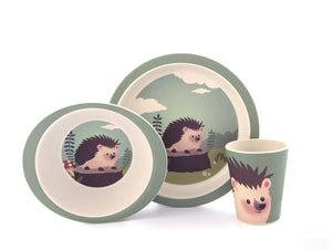 Hedgehog / egel bamboe kinder servies - Yuunaa