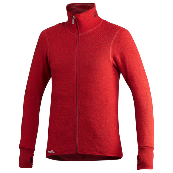 Vest / Full Zip Unisex Jacket 400 Autumn Red - Woolpower - Op bestelling