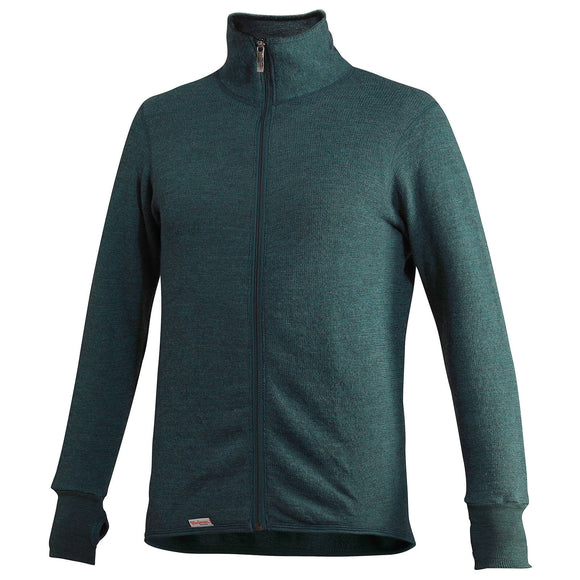 Vest / Full Zip Unisex Jacket 400 Forest Green - Woolpower - Op bestelling