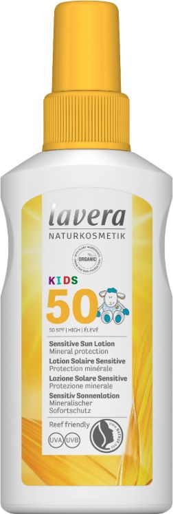 Zonnebrandspray / Sensitive Sun Spray Kids SPF50 – Lavera