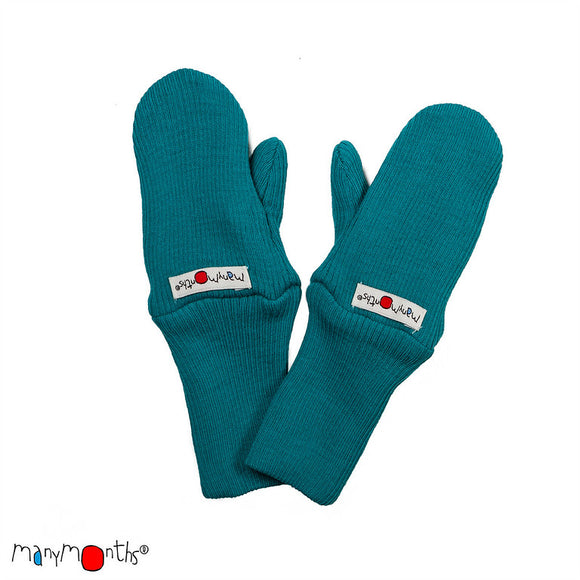 Long Cuff Mittens Natural Woollies Royal Turquoise – ManyMonths MaMidea