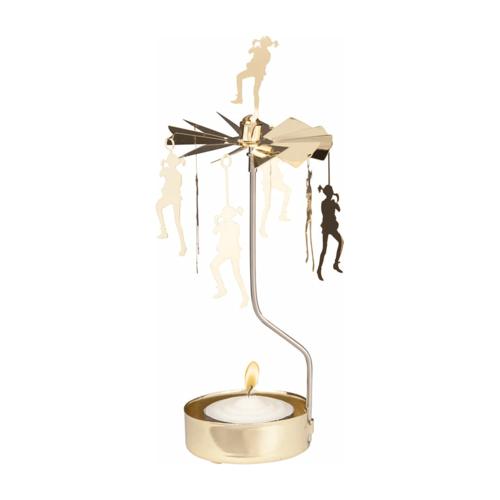 Rotary candle holder Pippi Langkous Gold - Pluto Produkter