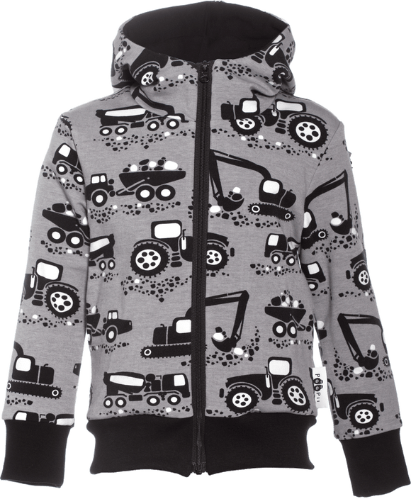 Vest Retki Hoodie Machines Grey 86 t/m 122 – Paapii Design