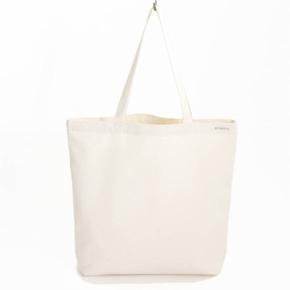 Canvas shopper ET logo natural white – Bo Weevil