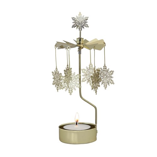 Rotary candle holder Snow Flake Gold - Pluto Produkter