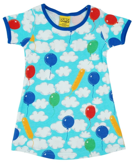 Jurk  / Short Sleeve Dress A Cloudy Day - kids & adult - Duns Sweden