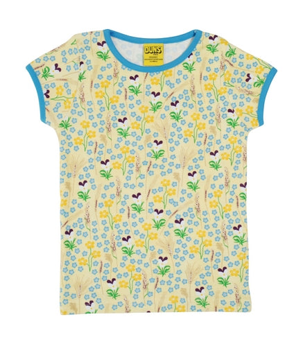 T-shirt / Short Sleeve Top Meadow Yellow - Duns Sweden