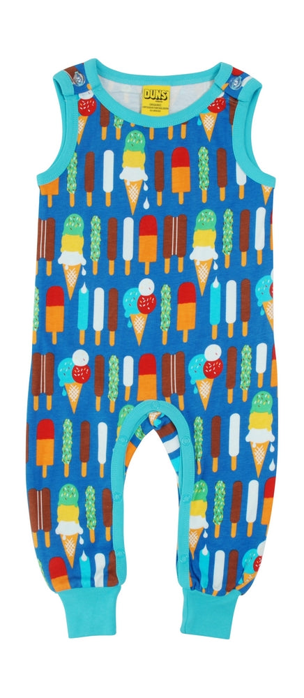 Playsuit / Dungarees Ice Cream Blue - Duns Sweden
