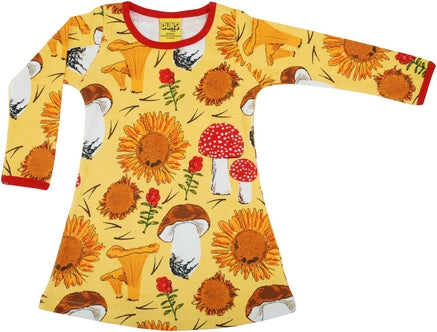 Jurk / Long Sleeve Dress Sunflower Yellow maat 68 - Duns Sweden