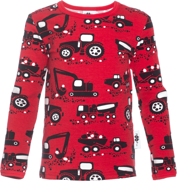 Longsleeve ULJAS Machines Red 86-122 – Paapii Design