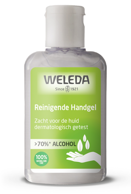 Reinigende Handgel >70% alcohol 80 ml – Weleda