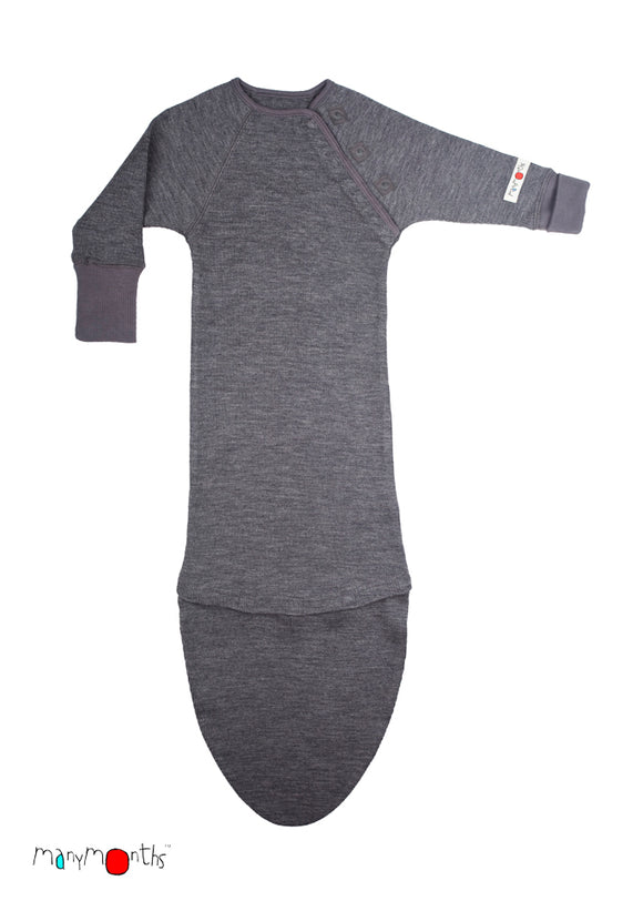 Woollies Sleeping Bag with Extension Silver Grey – ManyMonth MaMidea