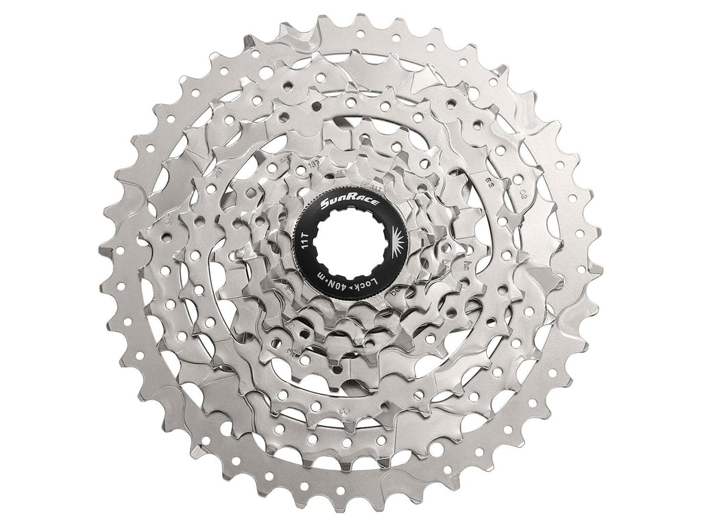 SunRace CS MS6 8 Speed Wide Ratio 11-40T Mountain Bike Cassette – Silver