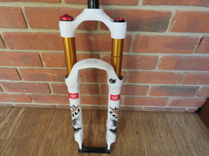 "26 inch Mountain Bike Air Suspension Front Fork 1"" 1/8 White/Gold"