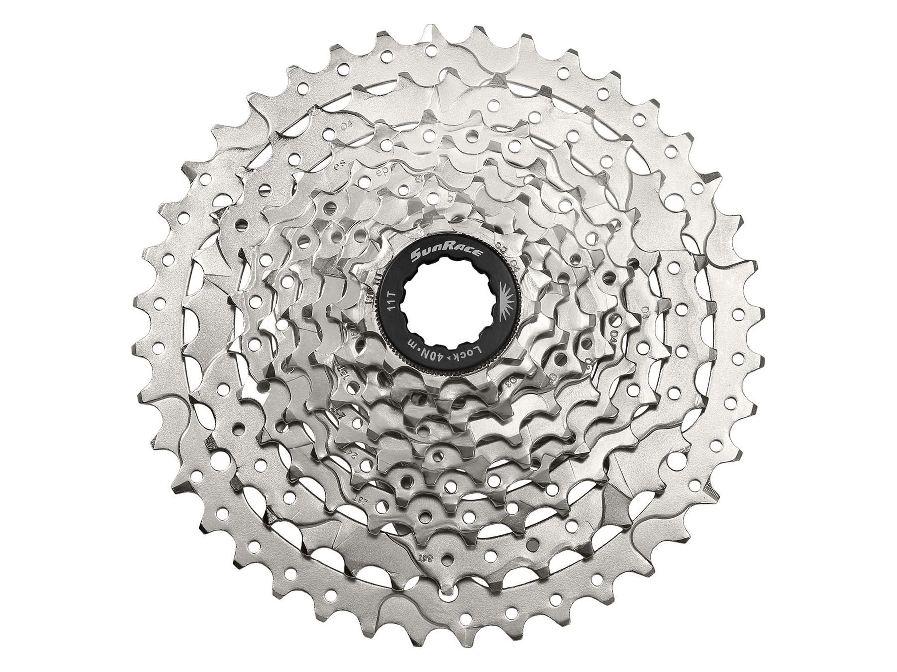 SunRace 9 Speed 11-40T MTB Mountain Bike Bicycle Cassette Sprocket Silver