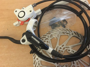 Shimano BR-BL-M355 Hydraulic Brake Set Front & Rear White Avid G3 160mm Rotors