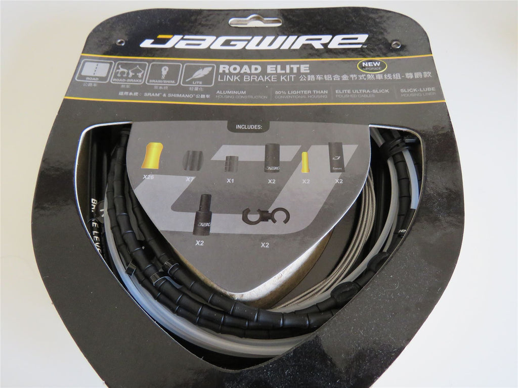 Jagwire Road Elite Link Brake Bicycle Cycling Inner Outer Gear Cable Kit Black