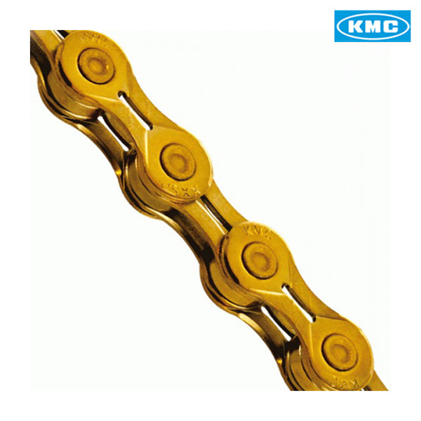 KMC X10-EL Bike Chain Extra Light 10 Speed Cycle Chain KMCX10 EL TI Gold Shimano