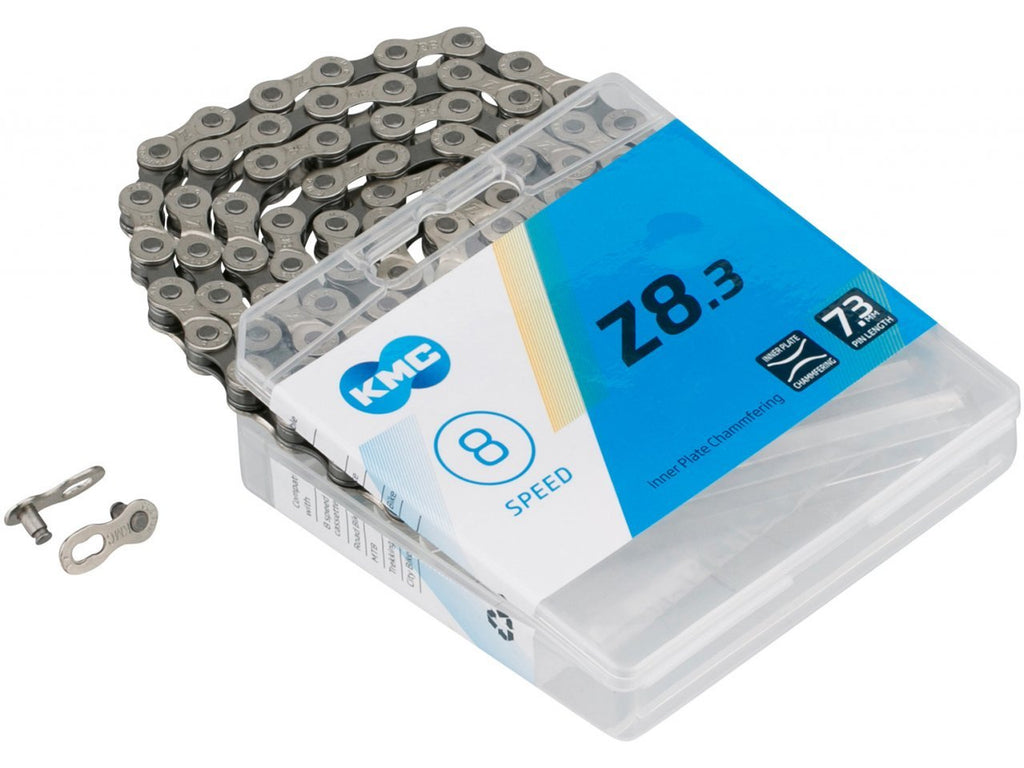 KMC Z8.3 - 8 Speed Chain - 116L- Silver / Grey