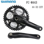 Shimano Deore FC-M443 Octalink MTB Cranksets 44X32X22 9-Speed 170mm