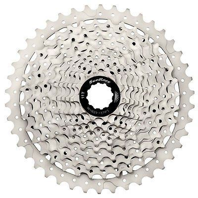 Sunrace MS8 11 speed wide ratio MTB cassette 11-46T Silver-Black Shimano,Sram