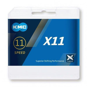 KMC X11-93 Boxed 11 Speed Chain Nickel /Black116 Links