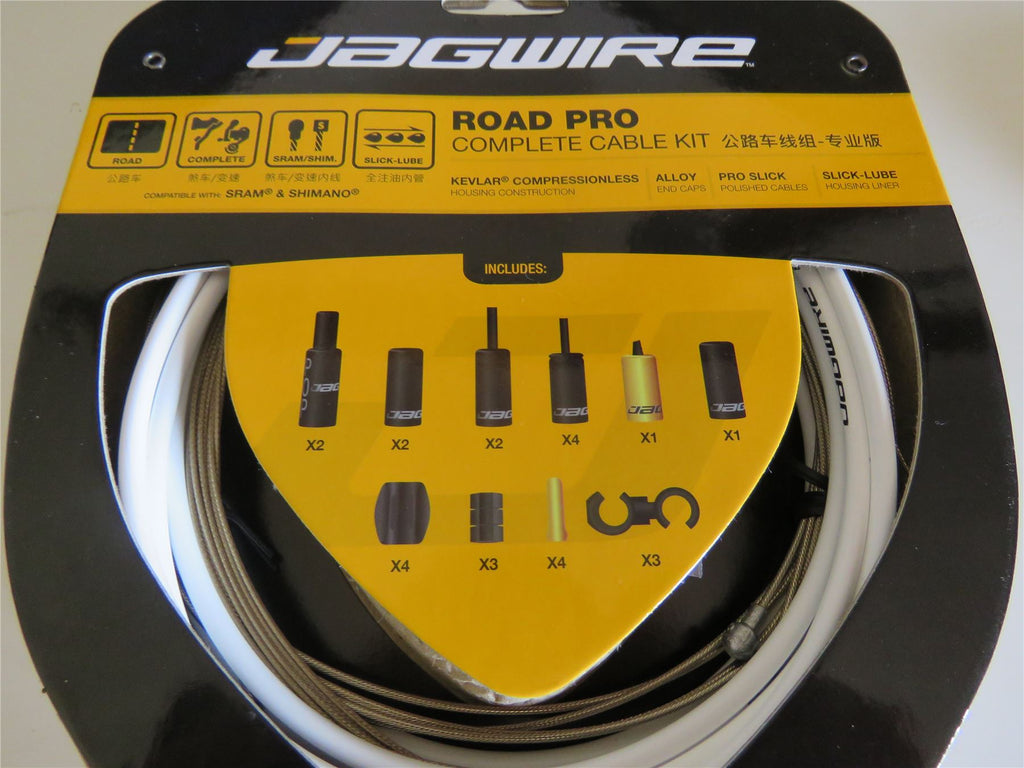 Jagwire Road Pro Complete Road Bike Brake – Gear Inner and Outer Cable Set White