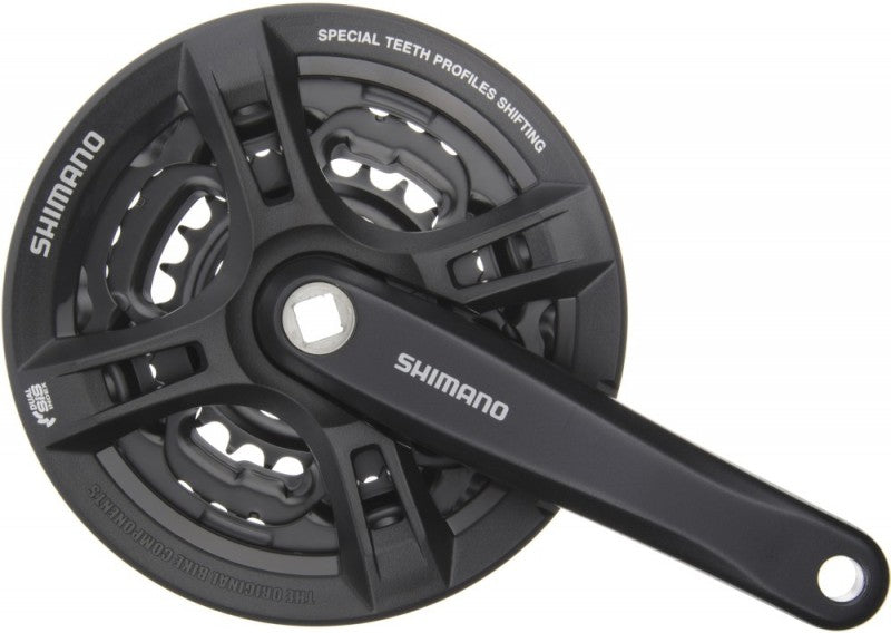 Shimano FC-M171 Altus Crankset (Black, 170-mm 42/34/24T 6/7/8 Speed)