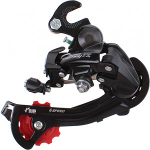Shimano Tourney TZ RD-TZ500 Rear Derailleur 5/6/7 Speed with adapter black
